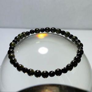 Jewelry - Genuine Onyx & Tourmaline Gemstone Bracelet!